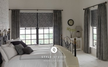 Feather Noir Curtain_Harewood Flint Roman Room